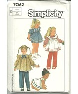 Simplicity Sewing Pattern 7062 Dress Panties Pants Size 1 2 3 New Uncut - $12.98