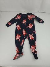 OshKosh B'gosh VTG Santa Playing Guitar Fleece Footie Pajamas 9 Months C... - $20.00