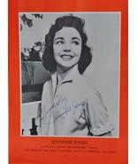 JENNIFER JONES SIGNED PHOTO - THE SONG OF BERNADETTE - LOVE LETTERS w/COA - $359.00
