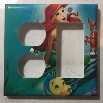 Ariel Flounder & Sebastian Light Switch Power Outlet wall Cover Plate Home decor image 2