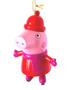 It's Peppa Pig all bundled Up for Winter on Ice Skates-  Christmas Ornament - $7.71