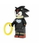 Custom Sonic Shadow Mini Figure Retro to fit well known brand - $6.93