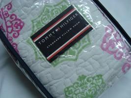 New Tommy HIlfiger Hibiscus Standard Sham pink green white graphic girls - $33.95
