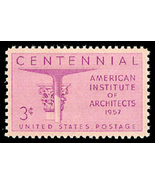 1957 3c American Institute of Architects, 100th... - $17,97 MXN