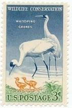 1957 3c Whooping Cranes, Wildlife Conservation Scott 1098 Mint F/VF NH - $0.99