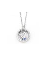 Silvertone Anchor Floating Charm Locket Pendant Necklace - $16.95