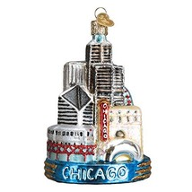 Old World Christmas Glass Blown Ornament Chicago 20091 - $17.11