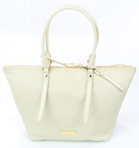 Burberry Salisbury Off White Cream Leather Tote Handbag - $702.61