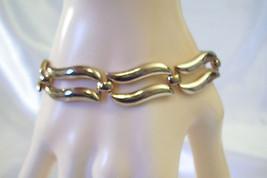MONET WAVY LINKS Gold Plated Bracelet Safety Chain Classic Vintage Estat... - $18.80