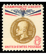 1960 8c Thomas G. Masaryk, 1st President of Czechoslovakia Scott 1148 Mi... - ₨67.69 INR