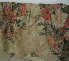 Ralph Lauren Great Barrington Cream Floral Scroll Queen Bedskirt Dust Ruffle Tan - $47.50
