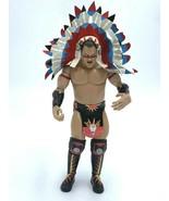 WWE Tatanka Action Figure Headress Knee Pads Classic Legend 2004 Native ... - $34.99