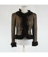 Metallic gold brown tweed MAGASCHONI bell sleeve jacket 8 - $144.99