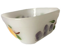 Fire King Anchor Hocking Oven Ware Custard Square Dish Painted Fruit - $19.79