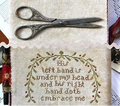 My Beloved Is Mine Journal Cover cross stitch chart Heartstring Samplery image 3