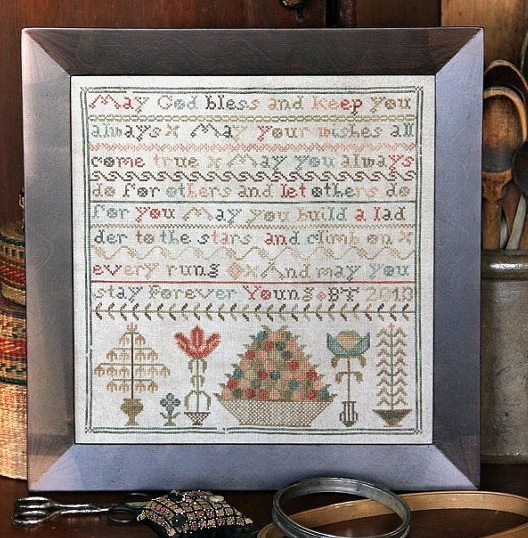 Forever Young cross stitch chart Heartstring Samplery