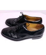 Cole Haan Connolly 10 Men Black Leather Brogue Wingtip Oxford Formal Dre... - $38.92