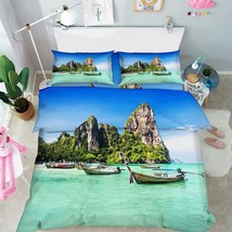 3D Sea View 020 Bed Pillowcases Quilt Duvet Cover Set Single Queen King Size AU - $90.04+