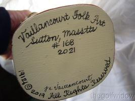 Vaillancourt Folk Art Christkindlesmarkt Gluhwein Santa Signed by Judi image 7