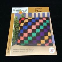 Entrelac Pillow Annie's Attic Scrap Crochet Club PATTERN INSTRUCTIONS 2005 - $6.88