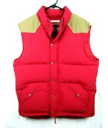 LEVIS LEVI STRAUSS MENS DOWN FEATHER VEST Red w/brown accents size L - $54.40