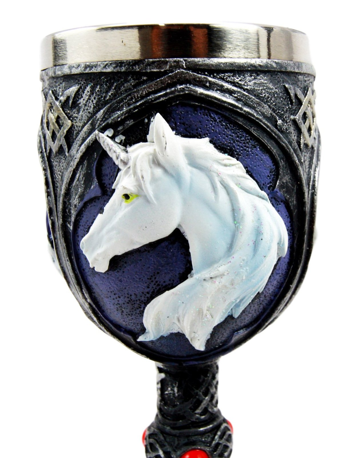 Atlantic Collectibles Vial Of Everlasting Life Rare Unicorn Wine Drink Goblet Ch
