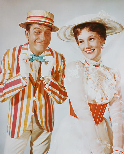 Mary poppins movie poster 24x36 bert and mary