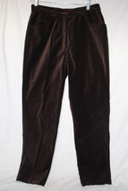 "ADRIENNE VITTADINI Brown ""Velour"" Cotton Blend Pants, Womens Size 10-B46 - $40.00"