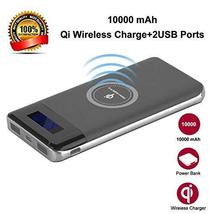 Premium 2 in 1 Qi Wireless Fast Charger Station Portable 10000 mAh Power... - $20.99