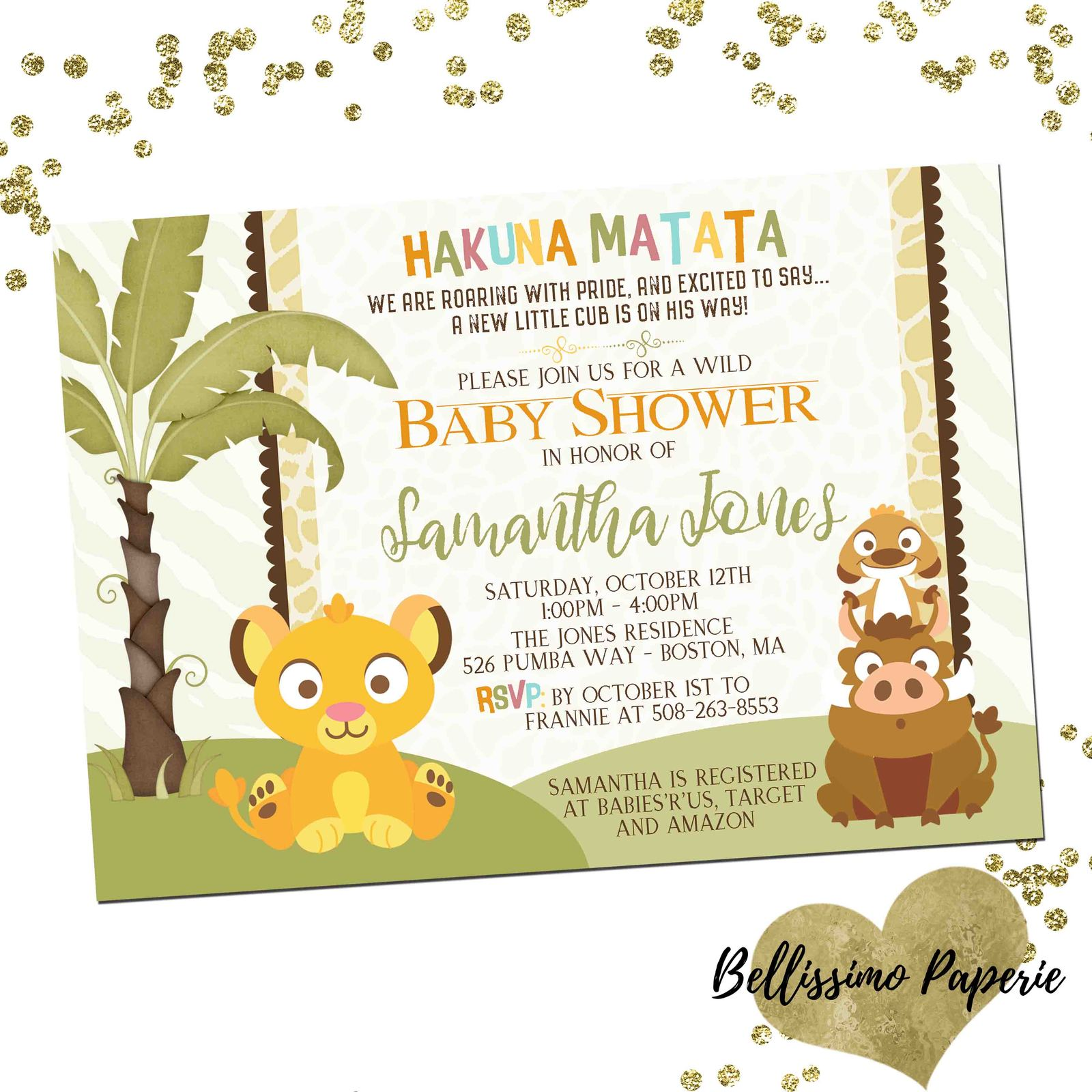 Baby Lion King Baby Shower Invitation And 50 Similar Items