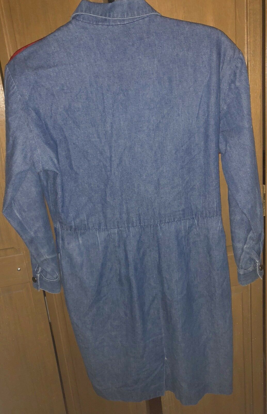 Vintage Adam Douglass Adrianna Papell Denim Southwest Embellished Dress Sz 4