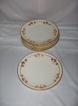 6 Vntg Thomas China Rosenthal Dessert Bread Plates Holiday Gold Flowers ... - $64.35