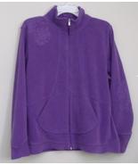 Womens Energy Zone Lavender Long Sleeve Fleece Full Zip Jacket Size XL - $8.95
