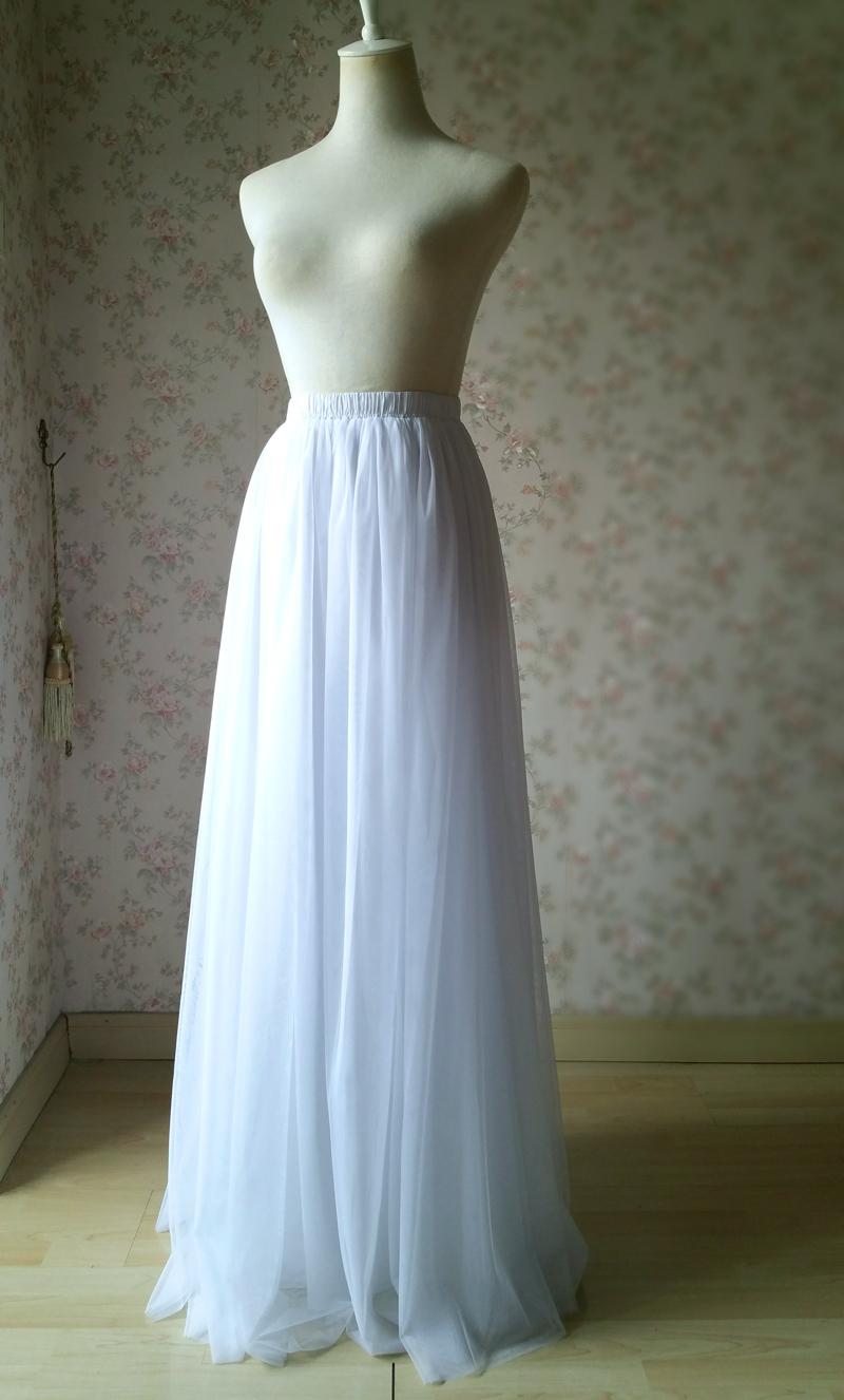 White wedding tulle skirt 3 800