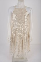 Zara Girls Sequin Silver Dress Sz 13-14 yrs 164 cm Sleeveless Party 1165... - $49.49