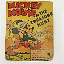 Mickey Mouse in the Treasure Hunt Disney 1941 Better Little Book 1401 BK2 - $24.95