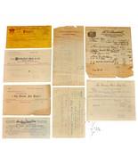 8 1901 MICHIGAN Billhead Document Receipts Office Paper Bags Wool Publis... - $19.99