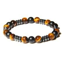 Bracelet Beaded Men Bracelets Simple Tiger Eye Stone Beads Bracelets & B... - $10.23