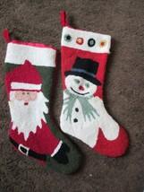 Tapestry Snowman & Santa Clause Christmas Stockings - $14.84
