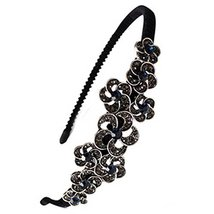 Flower Pattern Alloy Rhinestone Diamond Hair Hoop Headband Headdress - €11,67 EUR