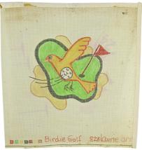 Vintage Needlepoint Hand Painted Laurie Ann Original Designs Birdie Golf... - $25.40