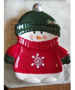 Hallmark Ceramic Snowman with Sweater Hat and Mittens Plate - $1,381.44