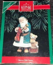 Hallmark Keepsake Christmas 1992 Ornament Merry Olde Santa 3rd in Series - $9.89