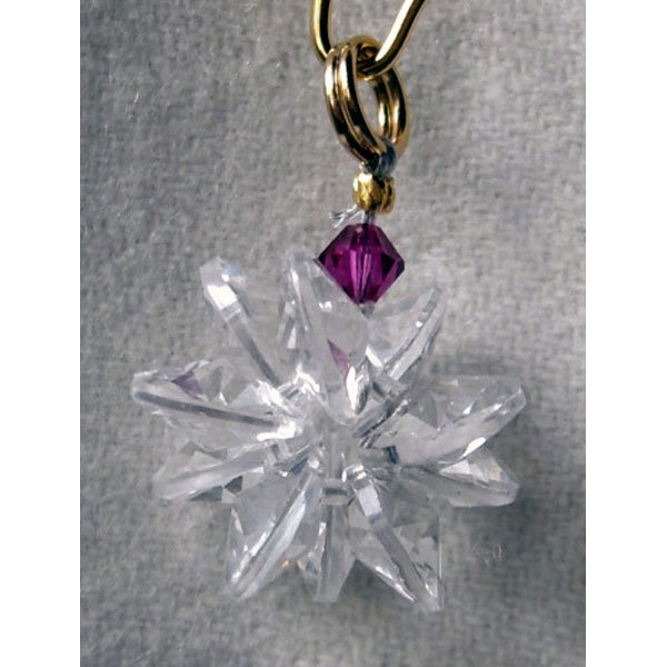 Miniature Clear Crystal Suncluster Charm