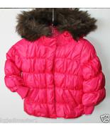 baby Gap NWT Girl's 12 18 24 Pink Warmest Coat Puffer Coat Fur Trim - $41.79