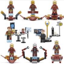 Custom Set Superhero Avengers (Iron Man) Lego Fit Minifigure Toys 8 Pcs - $16.00