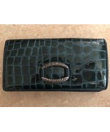 Brighton Ocean Blue Leather Wallet Silver Detail - $45.00