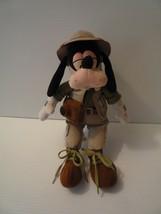 Disney Goofy Safari Tourist with Camera & Hat Plush Stuffed Hiking Goofy... - $11.88