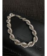 925 Sterling Silver Rope Chain Bracelet made in Italy  - $45.00