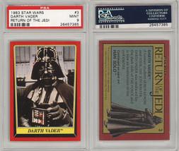 1983 Topps Star Wars Retorno Del The Jedi # 3 Darth Vader PSA 9 Pop 8 No... - €52,26 EUR